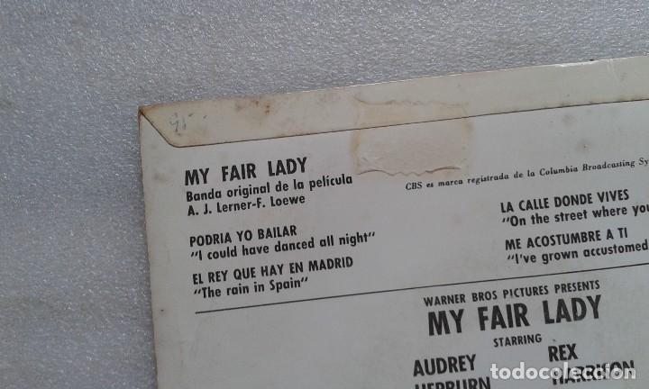 Discos de vinilo: BANDA SONORA - MY FAIR LADY EP 4 TEMAS 1965 EDICION ESPAÑOLA - Foto 3 - 117886099