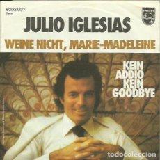 Discos de vinilo: JULIO IGLESIAS. SINGLE. SELLO PHILIPS. EDITADO EN ALEMANIA.. Lote 117901347