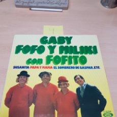 Discos de vinilo: GABY, FOFO Y MILIKI CON FOFITO, LOS PAYASOS DE LA TELE, LP EDICION ESPAÑOLA 1975 MOVIEPLAY. Lote 117903572