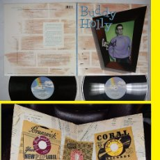 Discos de vinilo: BUDDY HOLLY - LEGEND - DOBLE LP 20 TEMAS MASTER TAPES, PEGGY SUE, EVERYDAY, ORG EDT USA, IMPECABLE. Lote 117911919