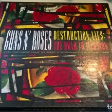 Discos de vinilo: MUSICA GUNS N' ROSES: DESTRUCTION, LIES: THE ROAD TO ILLUSION - 2 CD + MAXI PICTURE DISC + POSTER (1. Lote 117917975