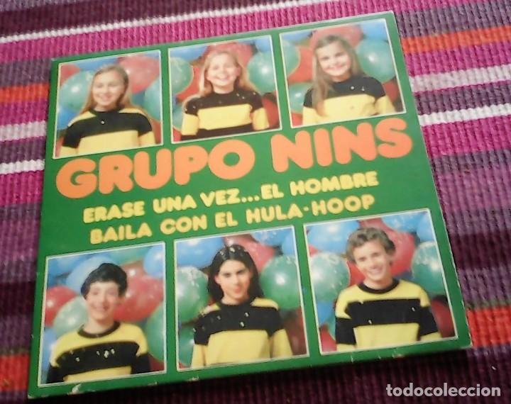 GRUPO NINS- ERASE UNA VEZ EL HOMBRE + BAILA CON EL HULA-HOOP SINGLE SPAIN 1979 (Música - Discos de Vinilo - Maxi Singles - Música Infantil)