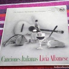 Discos de vinilo: CANCIONES ITALIANAS LICIA ALBANESE EP 4 TEMAS VER FOTOS. Lote 117919451