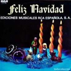 Discos de vinilo: FELIZ NAVIDAD. LUIS EDUARDO AUTE, LOS BRONCES, NADA, LOS RELÁMPAGOS,JOHNNY VALENTINO...LP SOLO PROMO. Lote 117924451
