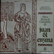 Discos de vinilo: JUAN DEL ENZINA. OBRA MUSICAL COMPLETA. CAJA CON 4 LP'S + LIBRETO. Lote 117927735