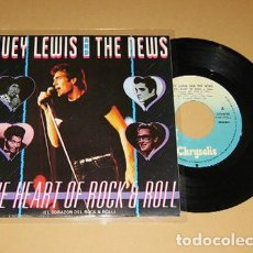 Discos de vinilo: HUEY LEWIS AND THE NEWS - THE HEART OF ROCK AND ROLL - SINGLE - 1983. Lote 117949095
