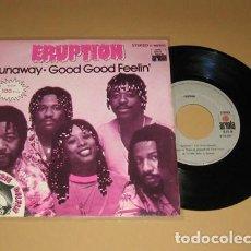 Discos de vinilo: ERUPTION - RUNAWAY - SINGLE - 1981. Lote 117949511