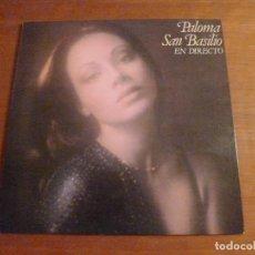 Discos de vinilo: PALOMA SAN BASILIO - EN DIRECTO - LP. Lote 117953707