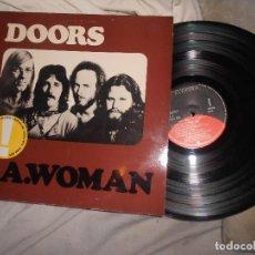 Discos de vinilo: LP THE DOORS L.A.WOMAN, L'AMERICA, RIDERS ON THE STORM..ÚLTIMO CON J. MORRISON, ED SPAIN, BLUES ROCK. Lote 117957435