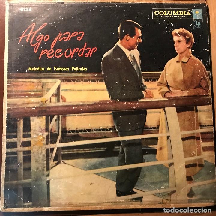 LP ARGENTINO DE ARTISTAS VARIOS ALGO PARA RECORDAR AÑO 1957 (Música - Discos - LP Vinilo - Bandas Sonoras y Música de Actores )
