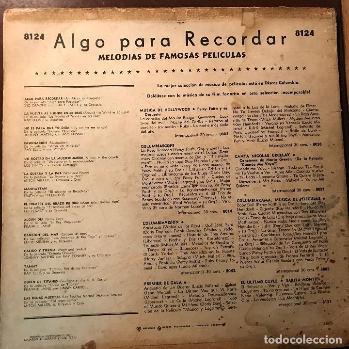 Discos de vinilo: LP argentino de artistas varios Algo para recordar año 1957 - Foto 2 - 117963171
