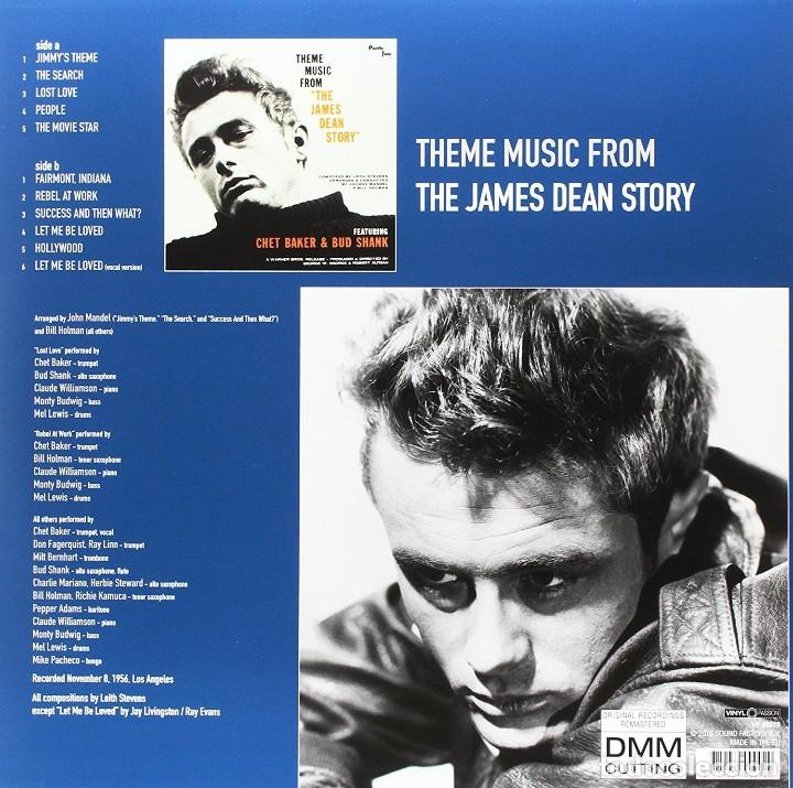 Discos de vinilo: Theme Music From The James Dean Story * LP Virgin Vinyl * Chet Baker & Bud Shank * PRECINTADO!! - Foto 2 - 117963215