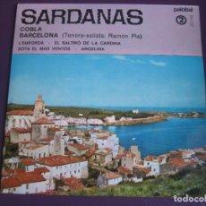 Discos de vinilo: SARDANAS COBLA BARCELONA EP PALOBAL 1967 - L'EMPORDA/ SOTA EL MAS VENTOS +2 RAMON PLA. Lote 117968979