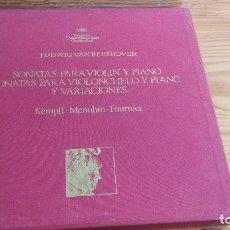Discos de vinilo: LUIDWIG VAN BEETHOVEN,SONATAS PARA VIOLONCHELO Y PIANO Y VARIACIONES, DEUTSCHE GRAMMOPHON,8 LP'S BOX. Lote 117969899