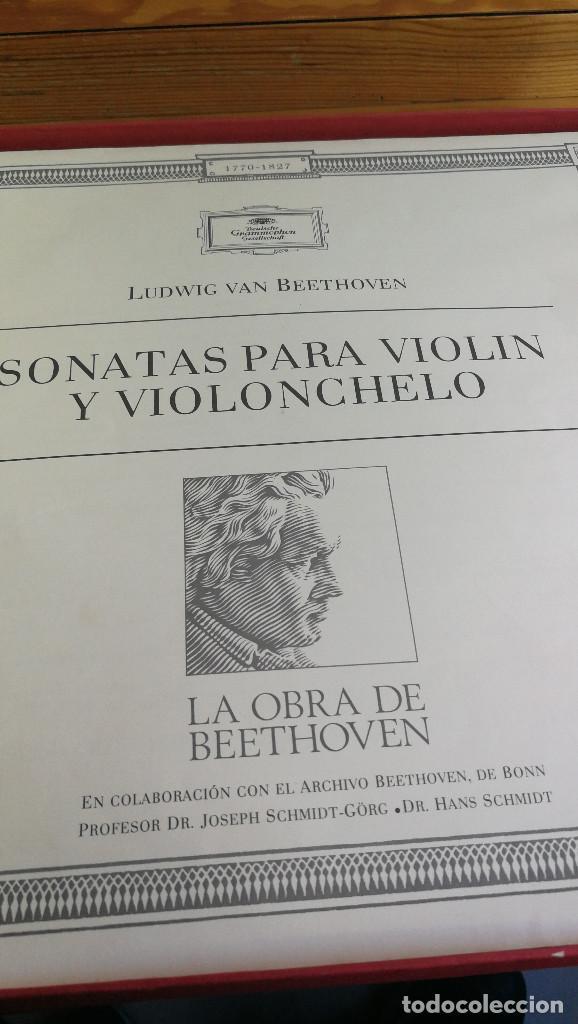 Discos de vinilo: LUIDWIG VAN BEETHOVEN,SONATAS PARA VIOLONCHELO Y PIANO Y VARIACIONES, DEUTSCHE GRAMMOPHON,8 LP'S BOX - Foto 2 - 117969899