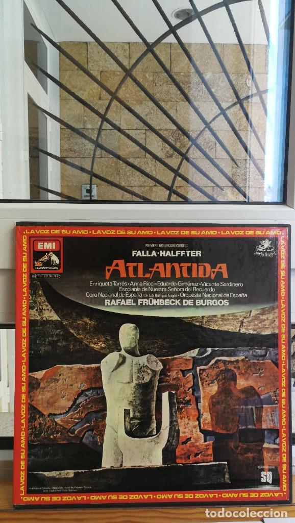 FALLA-HALFFTER ATLANTIDA,LA VOZ DE SU AMO. (Música - Discos - Singles Vinilo - Clásica, Ópera, Zarzuela y Marchas)