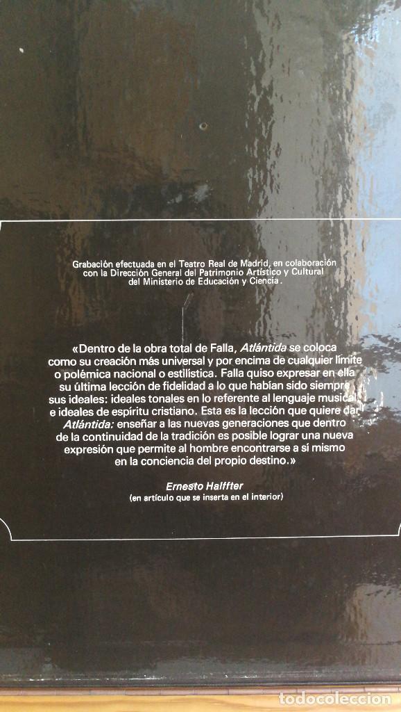 Discos de vinilo: FALLA-HALFFTER ATLANTIDA,LA VOZ DE SU AMO. - Foto 4 - 117970131