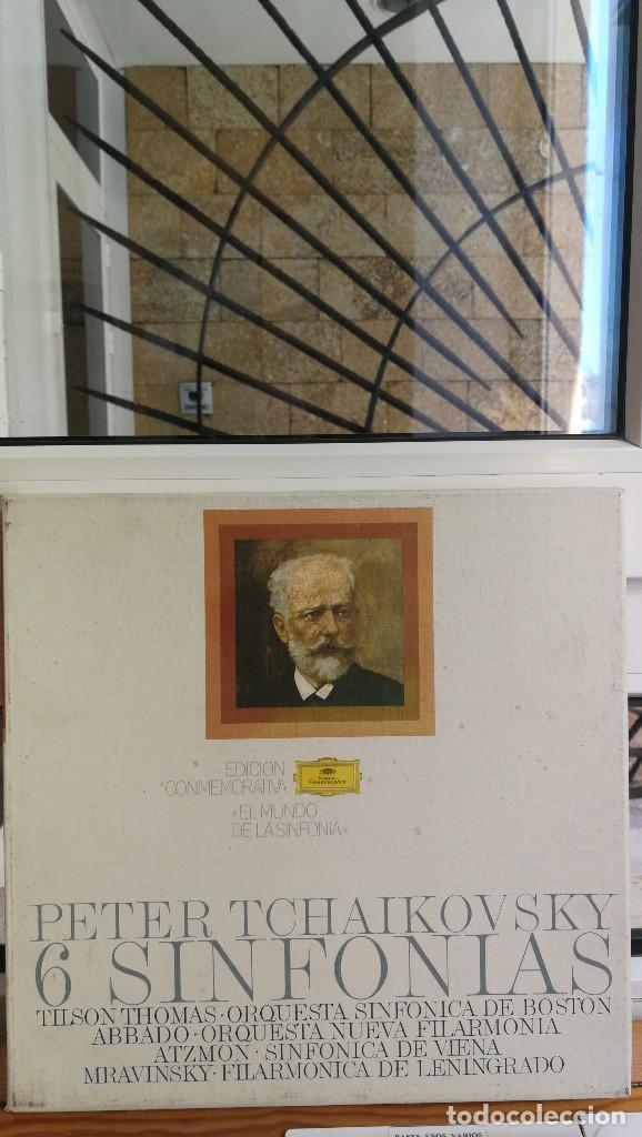 PETER TCHAIKOVSKY, 6 SINFONIAS, EDICION CONMEMORATIVA, 6 LP'S MAS DOSSIER. (Música - Discos - Singles Vinilo - Clásica, Ópera, Zarzuela y Marchas)