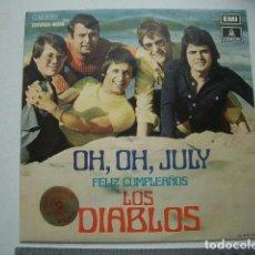 Discos de vinilo: LOS DIABLOS : OH, OH, JULY. Lote 118016935
