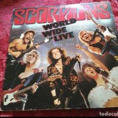 Discos de vinilo: LP DOBLE SCORPIONS WORLD WIDE LIVE CON ENCARTES. Lote 118048767