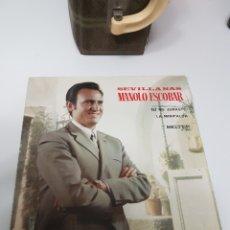 Discos de vinilo: MANOLO ESCOBAR - TU ME JURASTE + LA MINIFALDA (SEVILLANAS). Lote 118053122