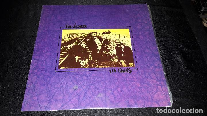 VIA QUARTA - VIA CRUCIS CON ENCARTE MUY BUEN ESTADO DIFICIL (Música - Discos - LP Vinilo - Grupos Españoles de los 70 y 80)