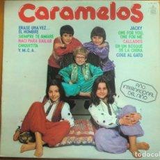 Discos de vinilo: LP CARAMELOS (1979) ERASE UNA VEZ EL HOMBRE, JACKY, CHIQUITITA, YMCA... MUY BUEN ESTADO. Lote 118082599