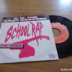 Discos de vinilo: N + M THE LADY RAPPERS. SCHOOL RAP. IRONIC VERSION.. Lote 118086475