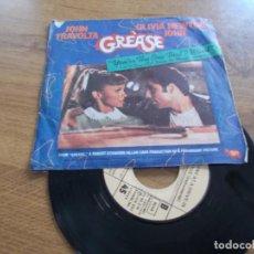Discos de vinilo: JOHN TRAVOLTA, OLIVIA NEWTON JOHN. GREASE. YOU´RE THE ONE THAT I WANT.. Lote 118086887
