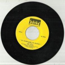 Discos de vinilo: JOSE JAVIER CON TITO IGLESIAS SINGLE TE INVENTARE UN MUNDO - SERA LA ULTIMA VEZ. Lote 118103991