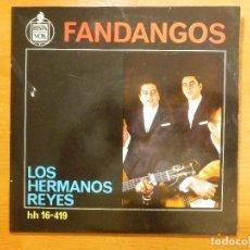 Discos de vinilo: DISCO DE VINILO - EP - FANDANGOS - LOS HERMANOS REYES - CUANDO POR LA SIEERA ANDABA. Lote 118123719