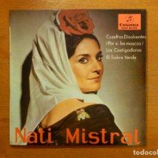 Discos de vinilo: DISCO DE VINILO - EP - NATI MISTRAL - CUADROS DISOLVENTES - POR SI LAS MOSCAS - LOS CASTIGADORES. Lote 118138967