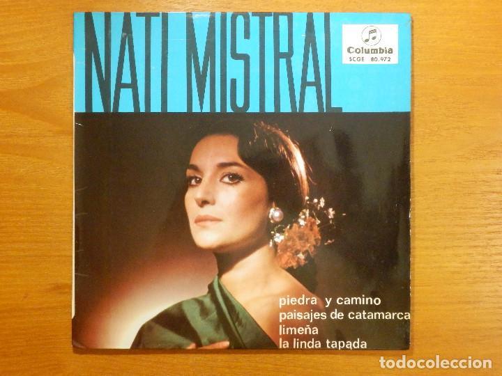 DISCO DE VINILO - EP - NATI MISTRAL - PIEDRA Y CAMINNO - PAISAJES DE CATAMARCA - LIMEÑA (Música - Discos de Vinilo - EPs - Flamenco, Canción española y Cuplé)
