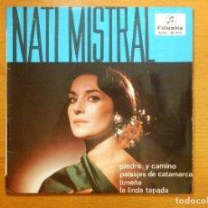 Discos de vinilo: DISCO DE VINILO - EP - NATI MISTRAL - PIEDRA Y CAMINNO - PAISAJES DE CATAMARCA - LIMEÑA . Lote 118140423
