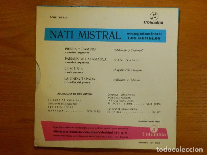 Discos de vinilo: Disco de Vinilo - EP - NATI MISTRAL - PIEDRA Y CAMINNO - PAISAJES DE CATAMARCA - LIMEÑA - Foto 2 - 118140423