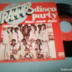 Discos de vinilo: THE TRAMMPS - DISCO PARTY ... SINGLE RARISIMO Y DIFICIL DE ATLANTIC .. 1976 - BUEN ESTADO. Lote 118150635