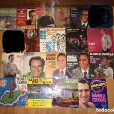 Discos de vinilo: MANOLO ESCOBAR - LOTE 18 DISCOS NUEVOS. Lote 54438578