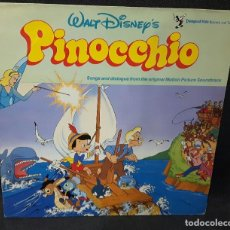 Discos de vinilo: PINOCCHIO- PINOCHO- LP - OFICIAL - REINO UNIDO - INFANTIL - INFANTILES - BUEN ESTADO - WALT DISNEY. Lote 118161159