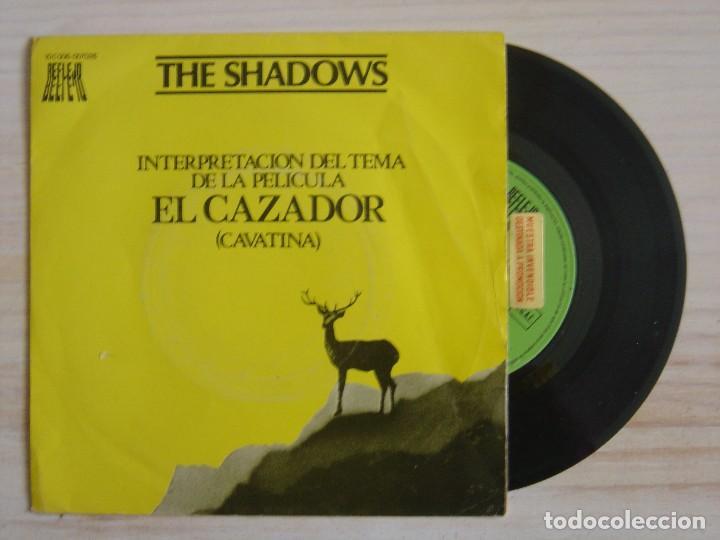 THE SHADOWS - THEME FROM THE DEER HUNTER + BERMUDA TRIANGLE - SINGLE PROMO ESPAÑOL 1979 - REFLEJO (Música - Discos - Singles Vinilo - Bandas Sonoras y Actores)