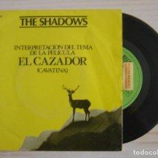Discos de vinilo: THE SHADOWS - THEME FROM THE DEER HUNTER + BERMUDA TRIANGLE - SINGLE PROMO ESPAÑOL 1979 - REFLEJO. Lote 118180235