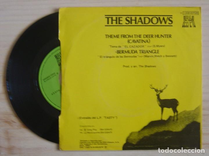 Discos de vinilo: THE SHADOWS - Theme from The Deer Hunter + Bermuda Triangle - SINGLE PROMO ESPAÑOL 1979 - REFLEJO - Foto 2 - 118180235