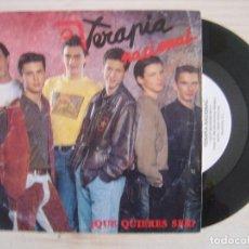 Disques de vinyle: TERAPIA NACIONAL - ¿QUE QUIERES SER? - SINGLE PROMO FIRMADO 1991 - SALAMANDRA. Lote 118187079