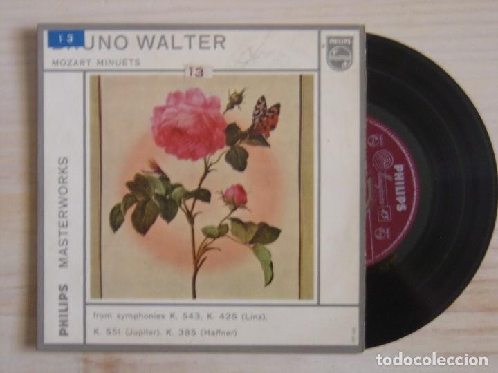 BRUNO WALTER - MOZART MINUETS - EP HOLANDES - PHILIPS (Música - Discos - Singles Vinilo - Clásica, Ópera, Zarzuela y Marchas)