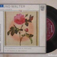 Discos de vinilo: BRUNO WALTER - MOZART MINUETS - EP HOLANDES - PHILIPS. Lote 118191235