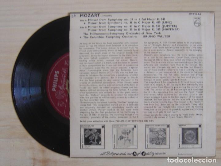 Discos de vinilo: BRUNO WALTER - Mozart minuets - EP HOLANDES - PHILIPS - Foto 2 - 118191235