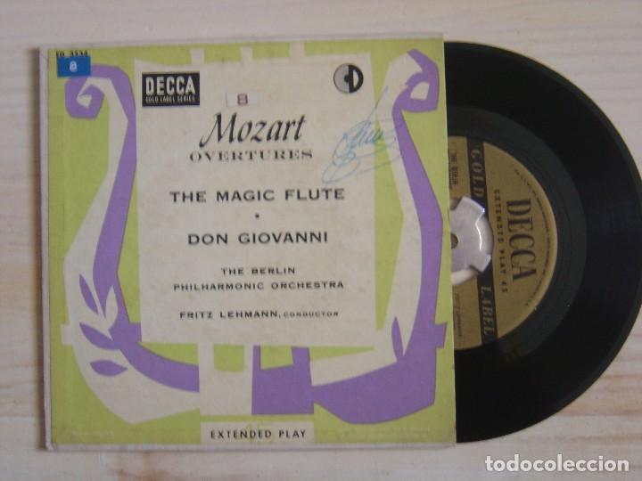 FRITZ LEHMANN THE BERLIN PHILHARMONIC ORCHESTRA MOZART OVERTURES - SINGLE USA - DECCA (Música - Discos - Singles Vinilo - Clásica, Ópera, Zarzuela y Marchas)