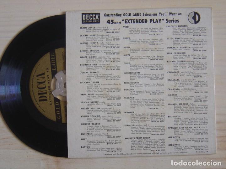 Discos de vinilo: FRITZ LEHMANN THE BERLIN PHILHARMONIC ORCHESTRA MOZART OVERTURES - SINGLE USA - DECCA - Foto 2 - 118192579