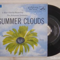 Discos de vinilo: THE HOLLYWOOD ORCHESTRA - SUMMER CLOUDS - TEMA DE NBC TV SHOW STUDIO ONE -EP USA 1955 - RCA. Lote 118193119