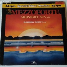 Discos de vinilo: MEZZOFORTE - MIDNIGHT SUN / GARDEN PARTY - 1984. Lote 118198363