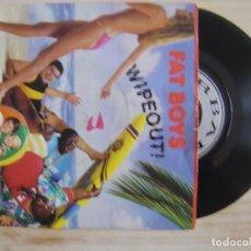 Discos de vinilo: FAT BOYS - WIPEOUT + CRUSHIN - SINGLE USA 1987 - URBAN. Lote 118255767